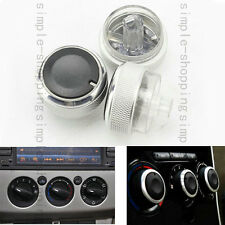 Fit For Ford Focus 05-13 Air Condition Panel Control Switch Knob Buttons - 3PCS