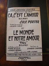 Partitura Ca c'est l'amour Cole Llevar Le monde y nuestro amour Danvers