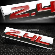 METAL GRILL TRUNK EMBLEM DECAL LOGO TRIM BADGE POLISHED CHROME RED 2.4L 2.4 L