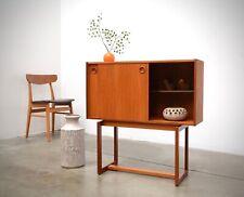 1960s Danish Modern Teak Entry Chest Cabinet Credenza Table Mid Century Vintage