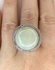 Genuine Jade Gemstone Ring, Size T/U, Gems Tv/ Gemporia