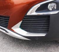 Chrome Car Front Fog Light Sounding Trims Stripes For Peugeot 5008 2017 2018