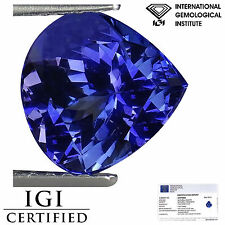 2.40 Ct IGI Certified AAA Natural D Block Tanzanite Blue Violet Color Pear Cut