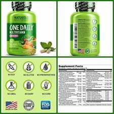 Daily MULTIVITAMIN For Women Whole Food For Hair Skin Nails 60CT NATURELO