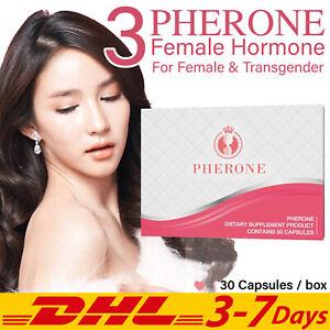 3x PHERONE Female Hormone Collagen Transgender LGBT Whitening Skin 30 Capsules