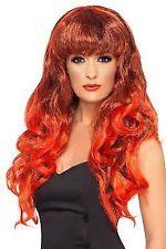 Ladies Red Siren Mermaid Devil Doll Clown Halloween Fancy Dress Costume Wig