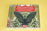 "CD BEETHOVEN ""CONCERTOS POUR PIANO N° 4 & 5"" E. AX & A. PRÉVIN / RCA, TB ÉTAT"
