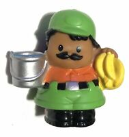Fisher Price Little People Animals Zoo Keeper bananas water bucket zookeeper toy