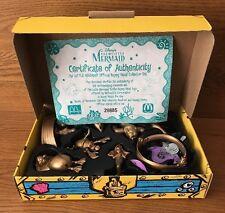 1997 McDonalds Disney Little Mermaid Happy Meal Golden Toy Set W/COA