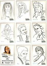 Xena R1 R2 R3 R4 R5 R6 R7 R8 R9 Gabrielle Artifex 9-card set by Renee O'Connor