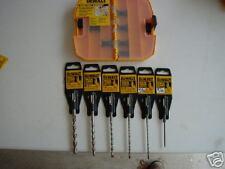 SDS PLUS ROCK CARBIDE 6 DRILL BITS W/TOUGH BOX GIFT