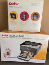 Kodak EasyShare Dock G610 Digital Photo Thermal Printer+frame Album Lot Box