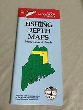 VINTAGE 1988 Maine Lakes & Ponds Fishing Depth Maps Aroostook County Vol. 17