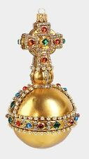 Sovereigns Orb Royal British Crown Jewel Glass Christmas Ornament Decoration