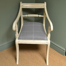 Regency Rope Twist Antique Painted Arm Chair / Desk Chair