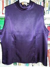 Top col cheminée sans manche Printemps Taille 44 violet