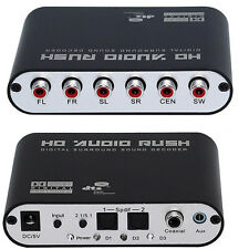 5.1 Channel audio decoder SPDIF Coaxial to RCA DTS AC3 digital to 5.1 Amplifier