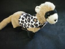 Ferret Harness - Tan Leopard Soft Brushed Cotton - S/M