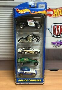 Hot Wheels Police Cruisers 5 Pack with Holden Commodore Released 2000