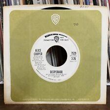 Alice Cooper Rock 45 Desperado / Under My Wheels Warner Brothers 7529 Promo