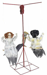 HALLOWEEN ANIMATED GHOSTLY MERRY GO ROUND CREEPY DOLLS PROP DECORATION HAUNTED