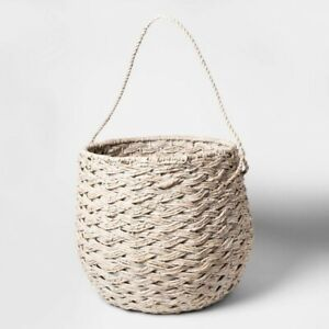 "THRESHOLD Large Round Basket | White Washed | 15""x18"" 