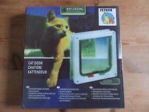 PETRICH 4 WAY LOCKING CAT FLAP