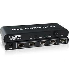 DUPLICADOR HDMI 4 PUERTOS 1X4 HDMI SPLITTER BOX 1 INPUT 4 OUTPUT 1080P 3D (104B)