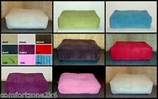 Zippy Washable Corduroy Beanbag Footstool Bean Bag Cube Foot Stool With Beans