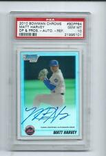 2010 BOWMAN CHROME MATT HARVEY REF AUTO PSA 10 GEM MINT DRAFT PICKS & PROSPECTS