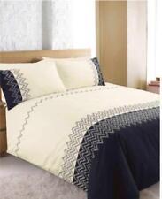 Linge de lit et ensembles bleu avec des motifs Brodé pour chambre à coucher