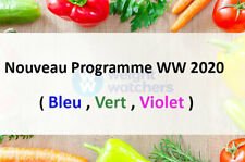 "programme 2020 Weight Watchers "" plan vert"" +100 aliments à 0 points"