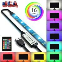 USB Powered Computer TV Backlight Kit RGB Colour Change 5050 LED Light Strip