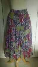 Vintage Tokyo Kae Pastel Knee-Length Lined Peasant, Boho Skirt, 23� Waist, Side