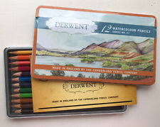 Brand New 12 Derwent Watercolour Pencils