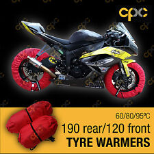 Red Superbike tyre warmer set front rear race track motorcycle tire warmers D3