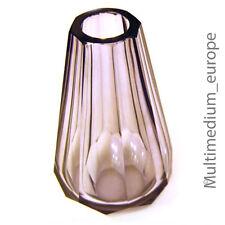 Kristall Glas Vase Moser Ludwig & Söhne Karlsbad zugeschrieben, 30er Jahre lila