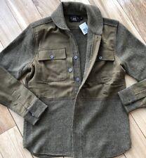 Double RL RRL Wool Linen Brown Sweater Jacket Shawl XS Ralph Lauren