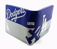MLB Los Angeles Dodgers Men's Printed Logo Leather Bi-Fold Wallet