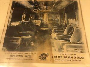 NORTH WESTERN Line RAILWAY RR VINTAGE POSTER CIRCA 1930 Chicago Framed
