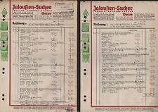 WURZEN, 2 x Rechnung 1945, Jalousien-Sucher Rolladen Markisen