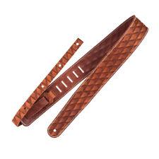 Richter 1501 crudo II Contorno coser piel correa de guitarra, marrón (Nuevo)