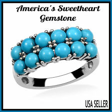 TGW 4.00 cts. Lovely Sleeping Beauty Turquoise Ring