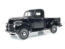 Franklin Mint 1940 Ford 1/2 Ton Pickup Truck Gloss Black 1:24 Diecast Car