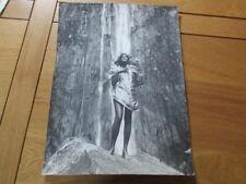 GRANDE PHOTO ARGENTIQUE 30X40 NUDE GIRL EROTISME PIN UP 1970