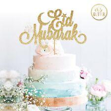 eid Mubarak cake topper, glitter cake topper, eid, hajj, mubarak, ramadan, cake