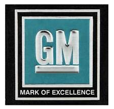 "1964-67 GM Cars / Trucks - ""GM Mark of Excellence"" Seat Belt Buckle Decal - Aqua"