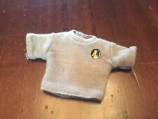 VINTAGE ACTION MAN GREY JUMPER SWEATER WITH SMALL SIDE LOGO