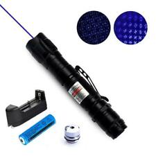 2in1 450nm Blue Purple Laser Pointer Lazer Pen Visible Beam Light +18650 Battery
