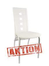 Esszimmerstuhl Küchenstuhl Stühle Esszimmer 4erSet weiß PU Fläche Metall Gestell